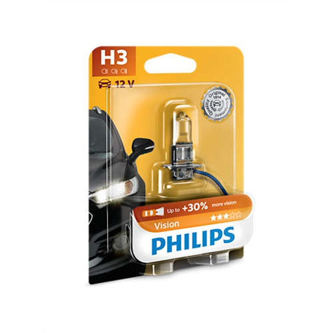 1 ampoule philips h3 vision 55 w 12 v. Black Bedroom Furniture Sets. Home Design Ideas