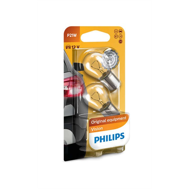 2 lampen philips p21w for Lampen philips