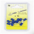 10 Cosses rondes bleues 4,3 mm