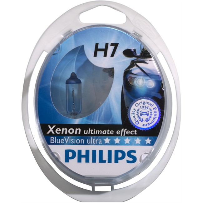 2 ampoules philips h7 blue vision ultra. Black Bedroom Furniture Sets. Home Design Ideas