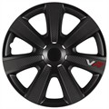 4 siervelgen 4RACING VR Carbon Look zwart 15'