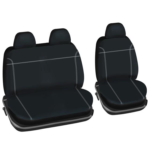 jeu de housses universelles 2 si ges avant sp cial utilitaire norauto utily noires. Black Bedroom Furniture Sets. Home Design Ideas