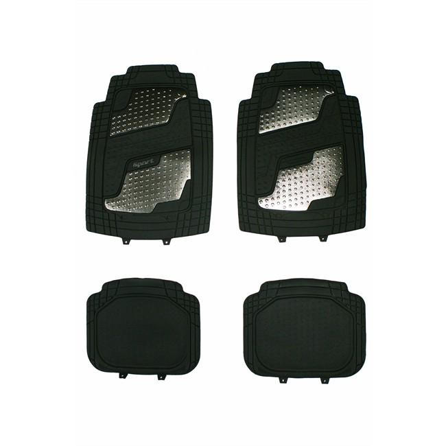 4 tapis de voiture universels en pvc norauto sport noir. Black Bedroom Furniture Sets. Home Design Ideas