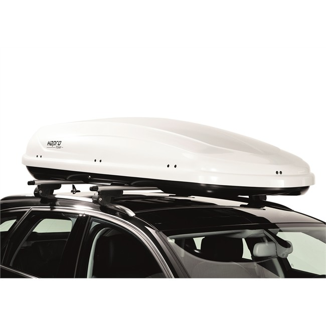 coffre de toit hapro traxer 8 6 blanc 530 l. Black Bedroom Furniture Sets. Home Design Ideas