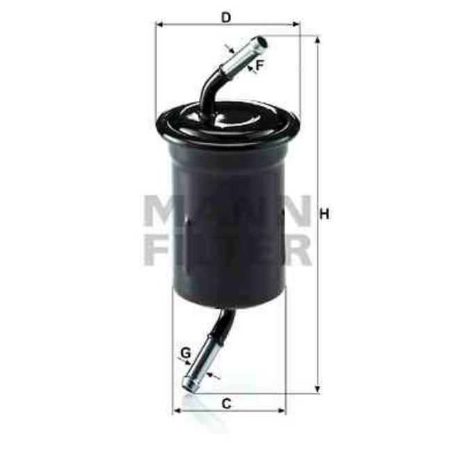 Filtre À Carburant Mann-filter Wk614/9