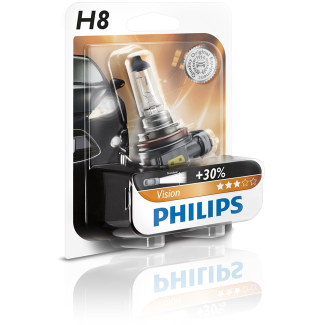 1 ampoule philips h8 vision 35 w 12 v. Black Bedroom Furniture Sets. Home Design Ideas